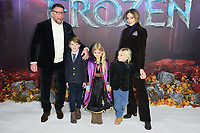 "LONDON, UK. November 17, 2019: Guy Ritchie, Jaqui Ainsley & family arriving for the ""Frozen 2"" European premiere at the BFI South Bank, London.<br /> Picture: Steve Vas/Featureflash"