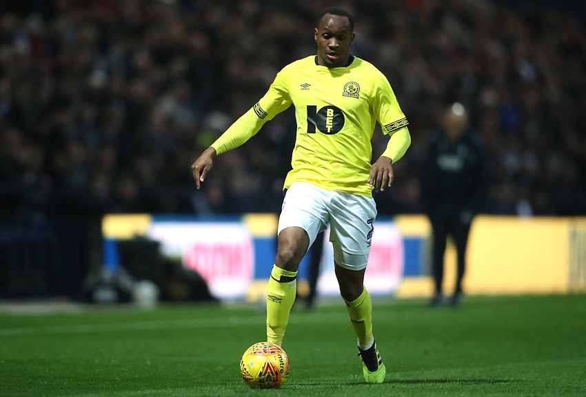 Blackburn Rovers' Ryan Nyambe<br /> <br /> Photographer Rachel Holborn/CameraSport<br /> <br /> The EFL Sky Bet Championship - Preston North End v Blackburn Rovers - Saturday 24th November 2018 - Deepdale Stadium - Preston<br /> <br /> World Copyright © 2018 CameraSport. All rights reserved. 43 Linden Ave. Countesthorpe. Leicester. England. LE8 5PG - Tel: +44 (0) 116 277 4147 - admin@camerasport.com - www.camerasport.com