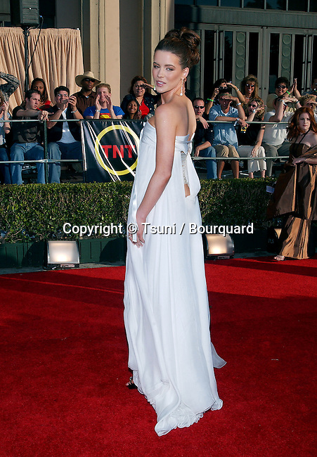 Kate Beckinsale arriving at the 8th Annual Screen Actors Guild Awards, held at the Shrine Auditorium in Los Angeles, CA., on Sunday March 10, 2002.