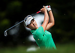 TAOYUAN, TAIWAN - OCTOBER 28:  Haeji Kang of South Korea tees off on the 2nd hole during the day four of the Sunrise LPGA Taiwan Championship at the Sunrise Golf Course on October 28, 2012 in Taoyuan, Taiwan.  Photo by Victor Fraile / The Power of Sport Images