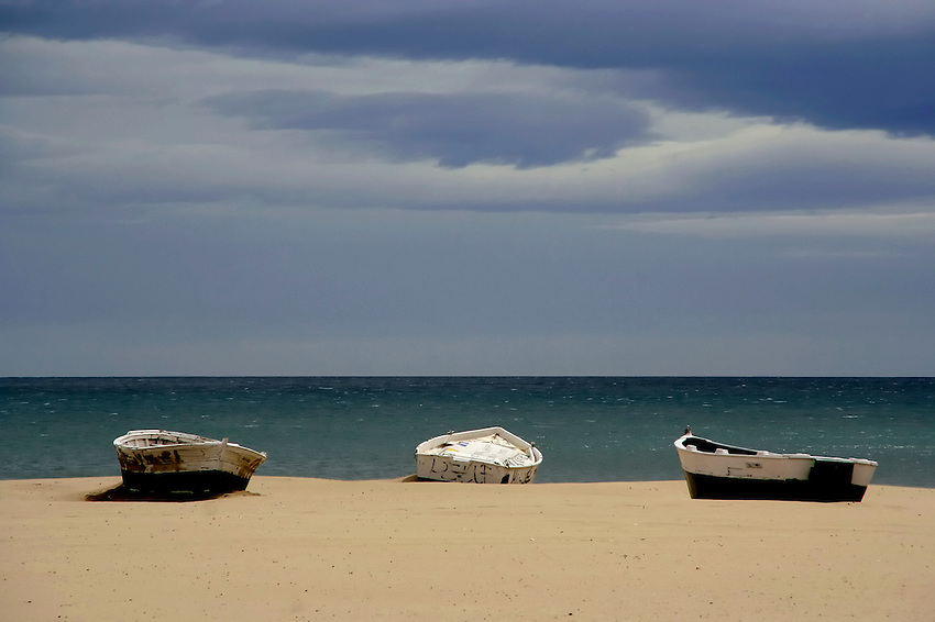 Row boats waiting to go out and fish -- Valencia, Spain<br /> <br /> Accepted for Tri-County Biennial 2013 Art Exhibition