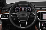 Car pictures of steering wheel view of a 2019 Audi A6 S-Line 4 Door Sedan Steering Wheel