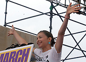 """Actress Ashley Judd speaks at the """"March for Women's Lives"""" in Washington, DC on April 25, 2004..Credit: Ron Sachs / CNP"""