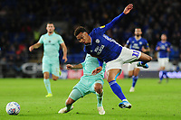 Josh Scowen of Queens Park Rangers battles with Josh Murphy of Cardiff City during the Sky Bet Championship match between Cardiff City and Queens Park Rangers at the Cardiff City Stadium in Cardiff, Wales, UK. Wednesday 02 October, 2019