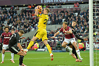 Joe Hart of Burnley catches a cross during West Ham United vs Burnley, Premier League Football at The London Stadium on 3rd November 2018