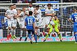 11.05.2019, PreZero Dual Arena, Sinsheim, GER, 1. FBL, TSG 1899 Hoffenheim vs. SV Werder Bremen, <br /> <br /> DFL REGULATIONS PROHIBIT ANY USE OF PHOTOGRAPHS AS IMAGE SEQUENCES AND/OR QUASI-VIDEO.<br /> <br /> im Bild: Ishak Belfodil (TSG Hoffenheim #19) scheitert mit Freistoss an der Mauer, Nuri Sahin (SV Werder Bremen #17)<br /> <br /> Foto &copy; nordphoto / Fabisch