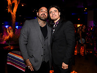 """LOS ANGELES - AUGUST 27: (L-R) Vincent Rocco Vargas and Antonio Jaramillo attend the post party at Sunset Room Hollywood following the season two red carpet premiere of FX's """"Mayans M.C"""" on August 27, 2019 in Los Angeles, California. (Photo by Frank Micelotta/FX/PictureGroup)"""
