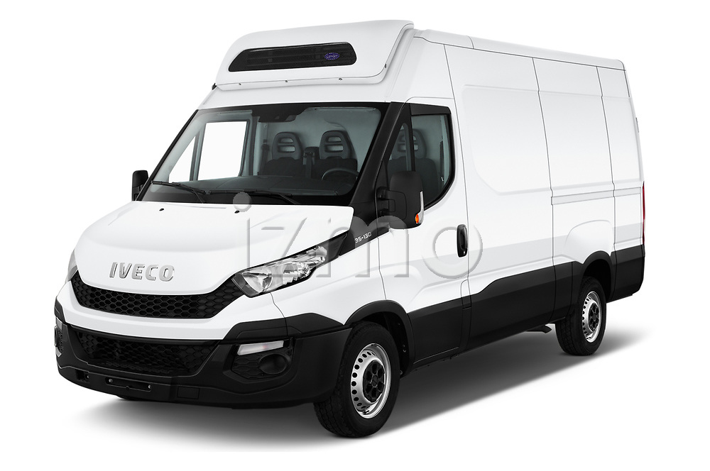 2018 Iveco Daily 35S 4 Door Cargo Van Angular Front automotive stock photos of front three quarter view
