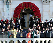 Washington, DC - January 20, 2009 -- United States President Barack Obama takes the Oath of Office at the United States Capitol on Tuesday, January 20, 2009..Credit: Scott Andrews - Pool via CNP