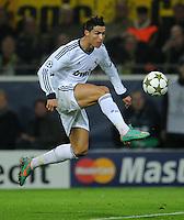 FUSSBALL   CHAMPIONS LEAGUE   SAISON 2012/2013   GRUPPENPHASE   Borussia Dortmund - Real Madrid                                 24.10.2012 Cristiano Ronaldo (Real Madrid) erzielt das Tor zum 1:1