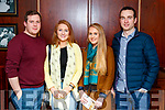 Jamie Vaughan, Aine Scannell, Michelle Kennelly and Mark Mulvihill, pictured at Sickly Come Dancing, UHK, at Ballygarry House Hotel & Spa, Tralee on Friday night last.