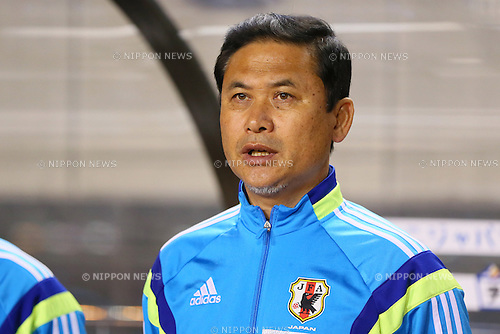 Norio Sasaki Head Coach (JPN), <br /> MAY 6, 2014 - Football /Soccer :  <br /> International friendly match<br /> between Japan 2-1 New Zealand <br /> at Kincho Stadium, Osaka, Japan. (Photo by Yohei Osada/AFLO SPORT)