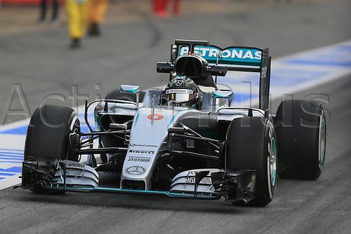 22.02.2016. Circuit de Catalunya, Barcelona, Spain. Spring F1 testing and new car unvieling for 2016-17 season.  Mercedes AMG Petronas F1 W07 Hybrid – Nico Rosberg