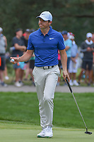 Rory McIlroy (NIR) after sinking his par putt on 1 during 4th round of the World Golf Championships - Bridgestone Invitational, at the Firestone Country Club, Akron, Ohio. 8/5/2018.<br /> Picture: Golffile | Ken Murray<br /> <br /> <br /> All photo usage must carry mandatory copyright credit (© Golffile | Ken Murray)
