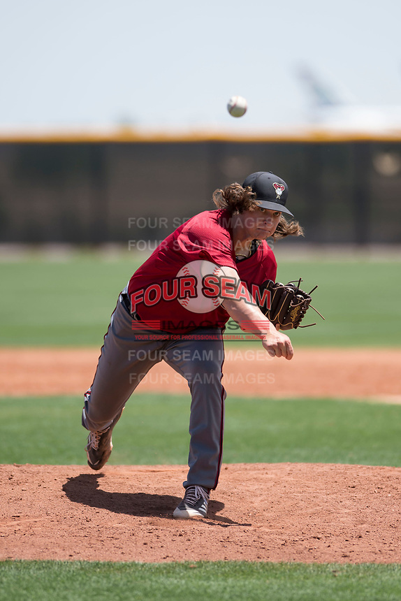 Arizona Diamondbacks relief pitcher Trent Autry (28) delivers a pitch during an Extended Spring Training game against the Cleveland Indians at the Cleveland Indians Training Complex on May 27, 2018 in Goodyear, Arizona. (Zachary Lucy/Four Seam Images)