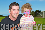 DADDY'S GIRL: Chloe Mai Herlihy with her day David from Camp having a lovely day out at the Camp Family Fun Day on Sunday..