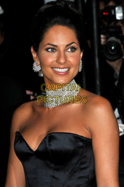 "BARBARA MORI.Uruguayan actress .""Bright Star"" screening.62nd International Cannes Film Festival.Cannes, France. 15th May 2009.half length strapless black bustier necklace cleavage diamond earrings choker .CAP/PL.©Phil Loftus/Capital Pictures"