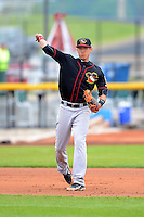 Quad Cities River Bandits shortstop Carlos Correa #1 during a game against the Clinton LumberKings May 26, 2013 at Ashford University Field in Clinton, Iowa.  Quad Cities defeated Clinton 5-2.  (Mike Janes/Four Seam Images)