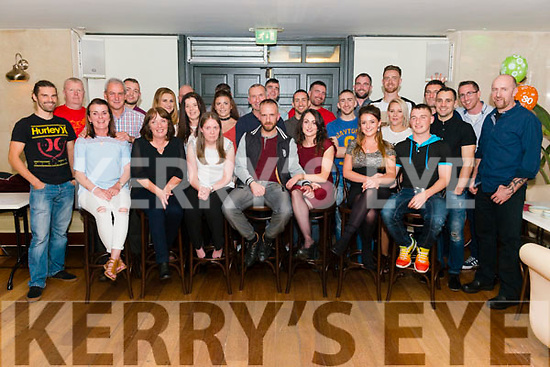 James Regan from Farranfore celebrated his 30th birthday surrounded by friends and family in the Plaza Hotel, Killarney last Saturday night.