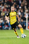 Borussia Dortmund Defender Marcel Schmelzer in action during the Europe Champions League 2017-18 match between Real Madrid and Borussia Dortmund at Santiago Bernabeu Stadium on 06 December 2017 in Madrid Spain. Photo by Diego Gonzalez / Power Sport Images