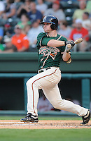 August 13, 2009: Infielder Paul Gran (15) of the Greensboro Grasshoppers, Class A affiliate of the Florida Marlins, in a game at Fluor Field at the West End in Greenville, S.C. Photo by: Tom Priddy/Four Seam Images