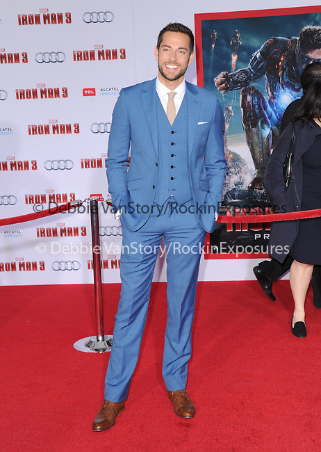 Zachary Levi at The World Premiere of Marvel's Iron Man 3 held at The El CapitanTheatre in Hollywood, California on April 24,2013                                                                   Copyright 2013 Hollywood Press Agency