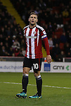 Billy Sharp of Sheffield Utd reacts after a missed chance during the English League One match at the Bramall Lane Stadium, Sheffield. Picture date: November 19th, 2016. Pic Simon Bellis/Sportimage