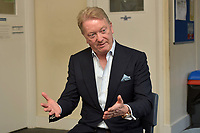 Frank Warren speaks to teachers during a Press Call at The Boxing Academy on 21st June 2018