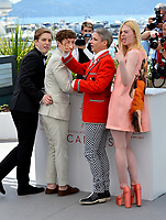 AJ Lewis, Alex Sharp, Elle Fanning &amp; John Cameron Mitchell at the photocall for &quot;How To Talk To Girls At Parties&quot; at the 70th Festival de Cannes, Cannes, France. 21 May 2017<br /> Picture: Paul Smith/Featureflash/SilverHub 0208 004 5359 sales@silverhubmedia.com
