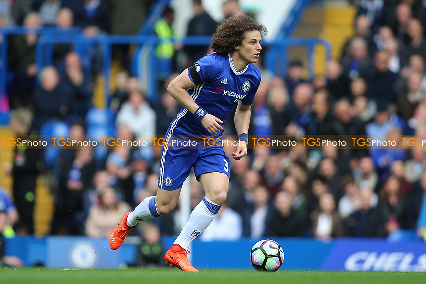 David Luiz of Chelsea during Chelsea vs Crystal Palace, Premier League Football at Stamford Bridge on 1st April 2017