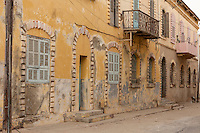 Senegal, Saint Louis.  Architecture from the French Colonial Era.