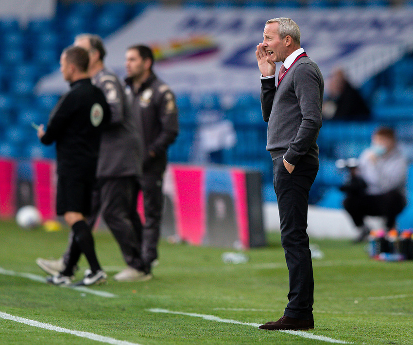 Charlton Athletic manager Lee Bowyer shouts instructions to his team from the technical area<br /> <br /> Photographer Alex Dodd/CameraSport<br /> <br /> The EFL Sky Bet Championship - Leeds United v Charlton Athletic - Wednesday July 22nd 2020 - Elland Road - Leeds <br /> <br /> World Copyright © 2020 CameraSport. All rights reserved. 43 Linden Ave. Countesthorpe. Leicester. England. LE8 5PG - Tel: +44 (0) 116 277 4147 - admin@camerasport.com - www.camerasport.com