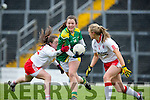 Anna Galvin Kerry ghosts past Tyrone captain Neamh Woods to score Kerry's second goal against Tyrone on Sunday