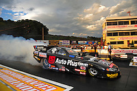 Sept. 30, 2011; Mohnton, PA, USA: NHRA funny car driver Blake Alexander during qualifying for the Auto Plus Nationals at Maple Grove Raceway. Mandatory Credit: Mark J. Rebilas-