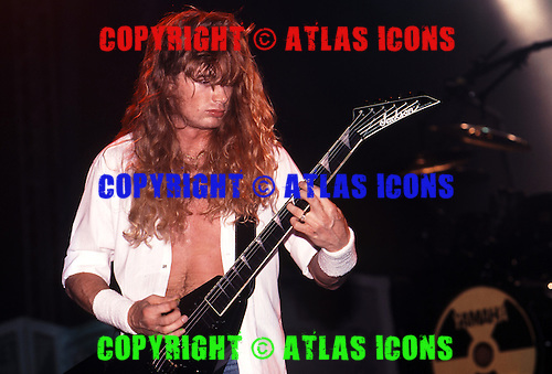 Megadeth, Dave Mustaine; Live 1991.Photo Credit: Eddie Malluk/Atlas Icons.com