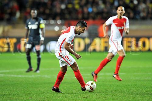 26.11.2016. Monaco, France. French League 1 football. Monaco versus Marseille.  09 RADAMEL FALCAO (asm)