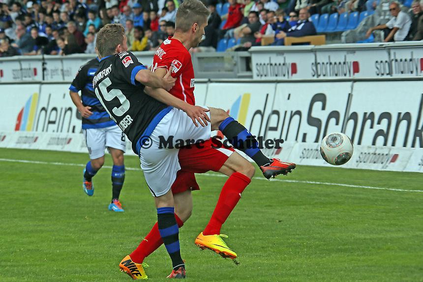 Alexander Huber (FSV) gegen Ranisav Jovanovic (SVS) - FSV Frankfurt vs. SV Sandhausen, Frankfurter Volksbank Stadion