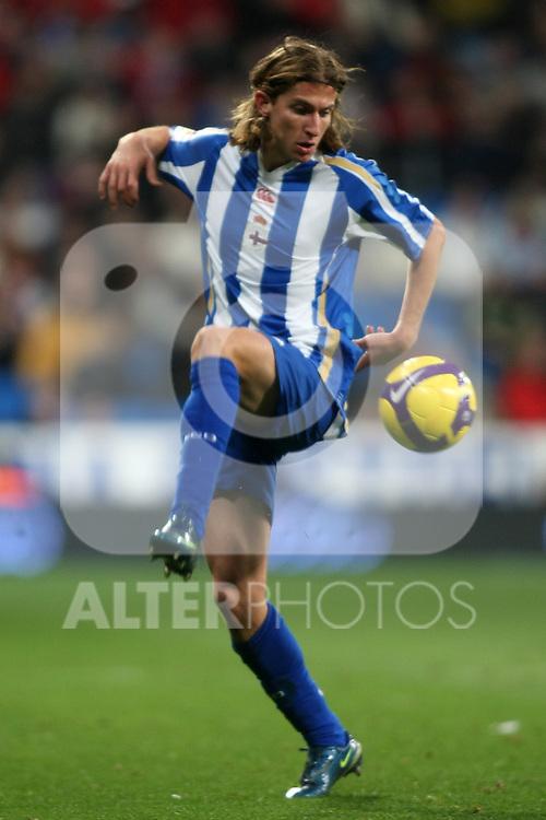Deportivo de la Coruna's Filipe Luis during La Liga match.January 25 2009. (ALTERPHOTOS/Acero).