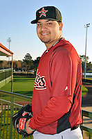 Feb 25, 2010; Kissimmee, FL, USA; The Houston Astros pitcher Matt Naevarez (91) during photoday at Osceola County Stadium. Mandatory Credit: Tomasso De Rosa / Four Seam Images