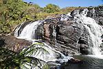 Baker's Falls waterfall, Horton Plains National Park, Central Province, Sri Lanka, Asia