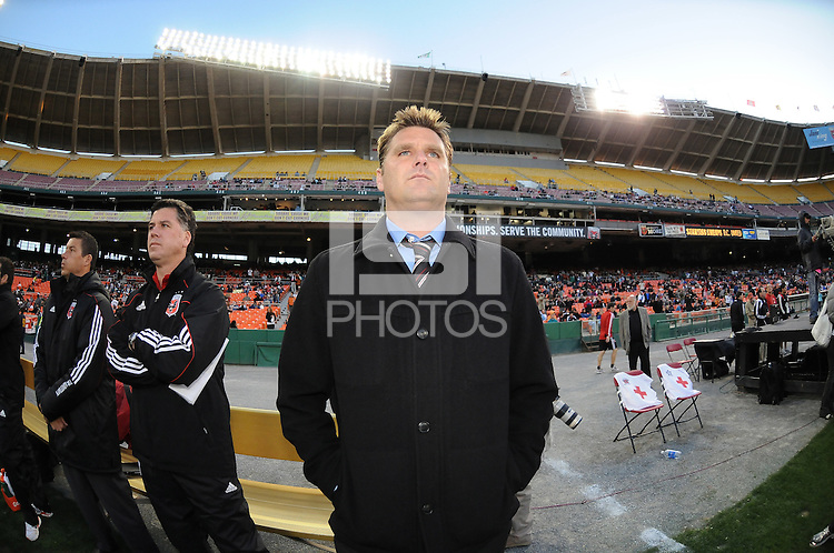 DC United Head Coach Curt Onalfo. The Chicago Fire defeated DC United 2-0 at RFK Stadium, Saturday April 17, 2010.