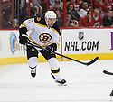 Boston Bruins Gregory Campbell (11) during a game against the Carolina Hurricanes on January 28, 2013 at PNC Arena in Charlotte, NC. The Bruins beat the Hurricanes 5-3.