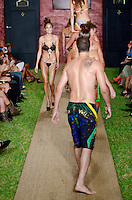 Taylor Hannum at Julia Veli Swimwear Show during Funkshion Fashion Swim Week 2013 at Miami Beach, FL on July 19, 2012