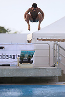 BARRANQUILLA - COLOMBIA, 20-07-2018: Carlos Escalona, Cuba, durante su participación en la categoría clavados hombres como parte de los Juegos Centroamericanos y del Caribe Barranquilla 2018. /  Carlos Escalona, Cuba, during his participation in the diving men's category of the Central American and Caribbean Sports Games Barranquilla 2018. Photo: VizzorImage / Alfonso Cervantes / Cont