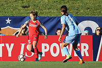 Piscataway, NJ - Saturday June 3, 2017: Meghan Klingenberg, Samantha Kerr during a regular season National Women's Soccer League (NWSL) match between Sky Blue FC and the Portland Thorns at Yurcak Field.  Portland defeated Sky Blue, 2-0.
