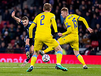 19th November 2019; Hampden Park, Glasgow, Scotland; European Championships 2020 Qualifier, Scotland versus Kazakhstan; James Forrest of Scotland gets shot away  - Editorial Use
