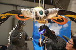 February 19, 2017, Chiba, Japan - Figures of Godzilla and Mothra are displayed at the Wonder Festival 2017 Winter in Chiba, suburban Tokyo on Sunday, February 19, 2017. Tens of thousands people visited one-day garage kits and plastic -models trade show hosted by Osaka based toy maker Kaiyodo.    (Photo by Yoshio Tsunoda/AFLO) LwX -ytd-