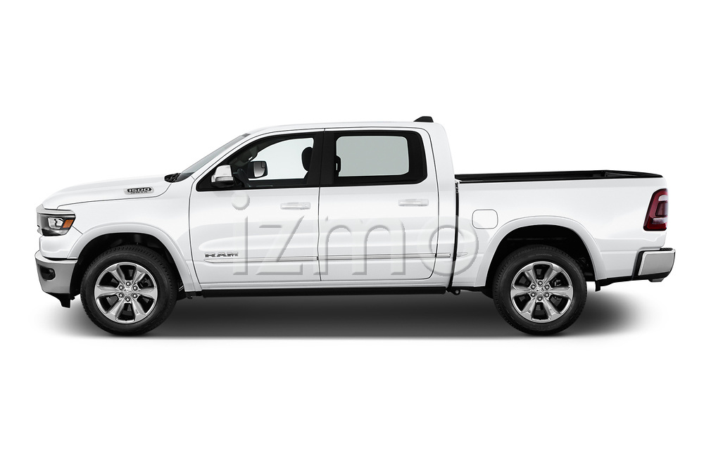 Car driver side profile view of a 2019 Ram Ram 1500 Pickup Limited Crew Cab 4 Door Pick Up