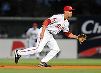 Sept. 18, 2009: Derrik Gibson of the Greenville Drive. The Lakewood BlueClaws won Game 4 of the South Atlantic League Championship Series against the Greenville Drive 5-1 at Fluor Field at the West End in Greenville, S.C. Lakewood won the series 3 games to 2. Photo by: Tom Priddy/Four Seam Images