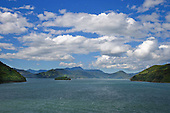 Queen Charlotte Sound, Marlborough Sounds,South Island, New Zealand.